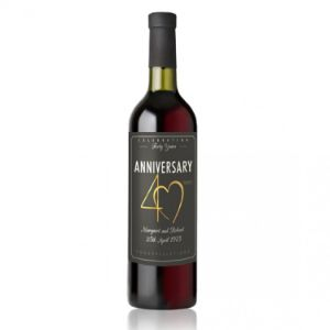 40Th Wedding Anniversary Wine