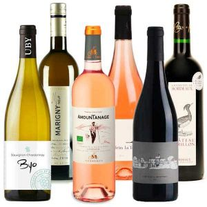 6 Assorted Organic Wines from France