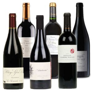 6 Premium Organic Red Wines from France