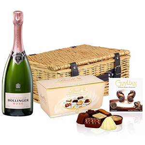 Bollinger Rose 75Cl and Chocolates Hamper