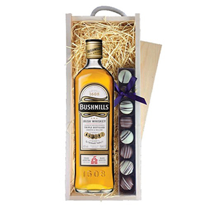 Bushmills Irish Whiskey and Truffles Wooden