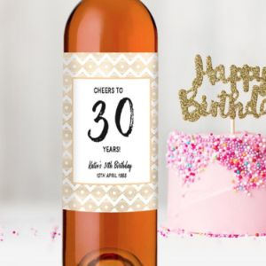 Cheers 30Th Birthday Wine Bottle Gift