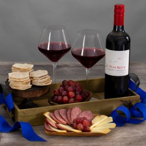 Countryside Delights Red Wine Gift Basket
