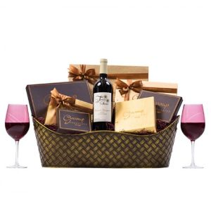 Executive Wine Chocolate Gift with Glasses