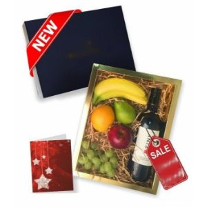 Fruit and Red Wine Gift Box