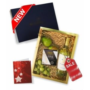 Fruit Cheese and White Wine Gift Box