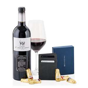 Garzini Wallet Black Red Wine Chocolates