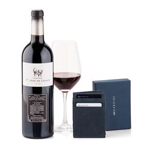 Garzini Wallet Black Red Wine