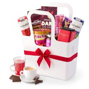 Gourmet Breakfast Gift in White Koziol Tote