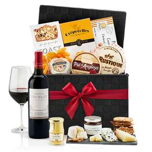 Gourmet French Wine Cheese Basket