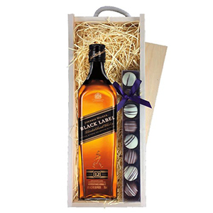 Johnnie Walker Black Label 70Cl and Truffles