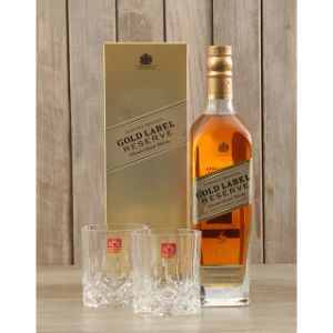 Johnnie Walker Gold and Glasses