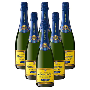 Monopole Blue Top Brut Champagne 6X75Cl Case
