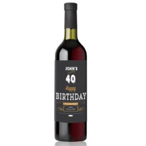 Personalised any Age Birthday Wine Gift