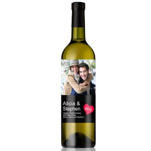 Personalised Photo Feature Romantic Wine