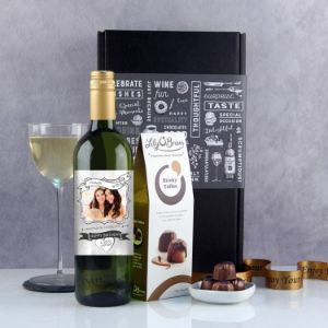 Personalised Photo Feature Wine Gift