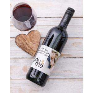 Personalised You and Me Photo Redwine