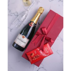 Red Box of Taittinger Champagne