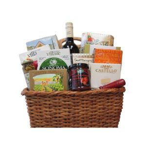 Sweet and Savory Wine Basket