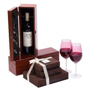 Wine Chocolate with Designer Glasses